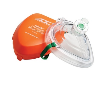 CPR Mask w/Valve & O2 Inlet