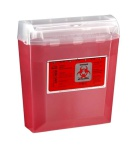 Container Sharps 5qt Wall Red