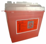 Container Sharps 5qt Red