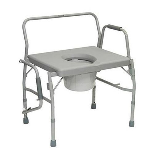 Commode Drop-Arm Bariatric