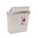Container Sharps 5qt Clear