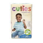 Diaper Cuties Sz 7  80/cs