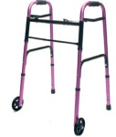 Walker Adult Folding/wheels Pl